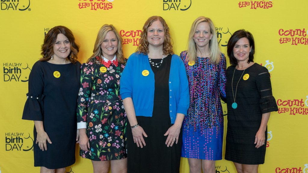 Healthy Birth Day, Inc. Founders, from left: Kate, Jan, Kerry, Janet, and Tiffan