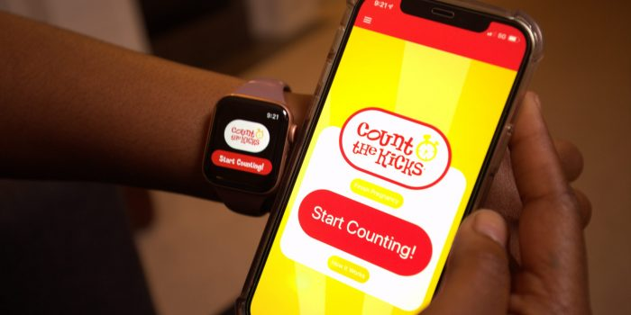 The free Count the Kicks app is now available on Apple Watch.