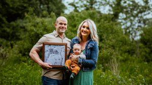 Missouri Ambassador Erica Bailey with her husband and their son, Bear.