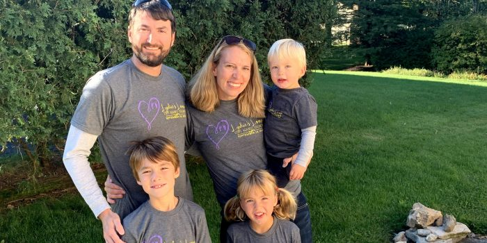 Heather Johnston Welliver and her family organize Lydie's Loop